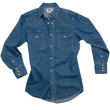 ELY Mens Denim Western Shirt