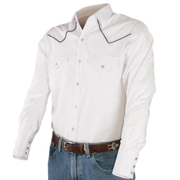 ELY Solid Piped Yoke Western (long sleeve)