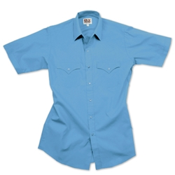 ELY Wrinkle Free Solid Western (short sleeve)