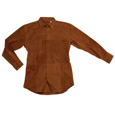 Mens Italian Goat Suede Leather Shirt